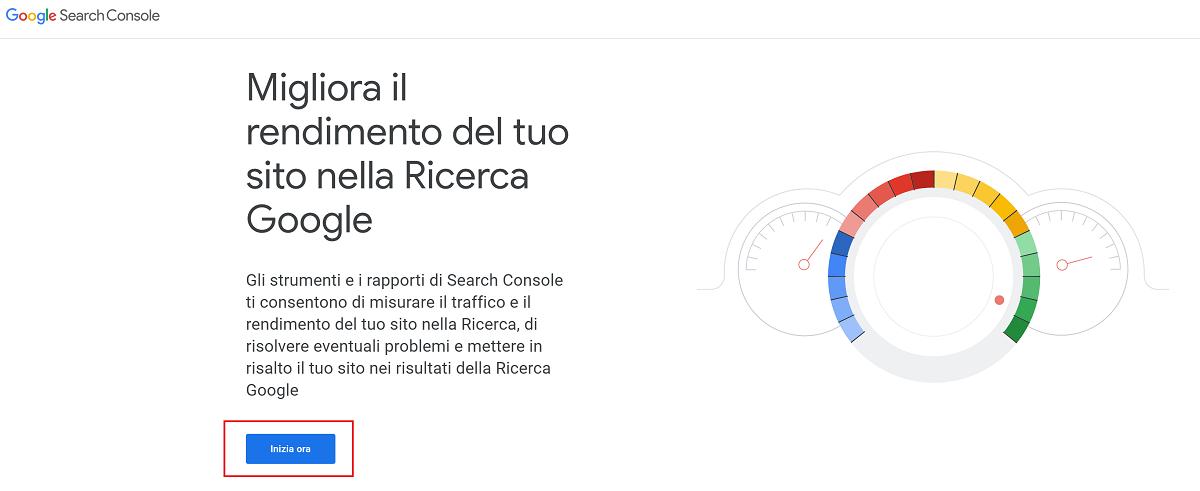 google search console accesso